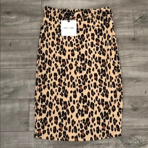 🐯Animal print stretchy pencil skirt yoga band😍